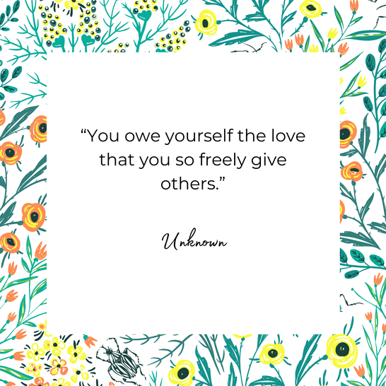 self care quote by unknown author